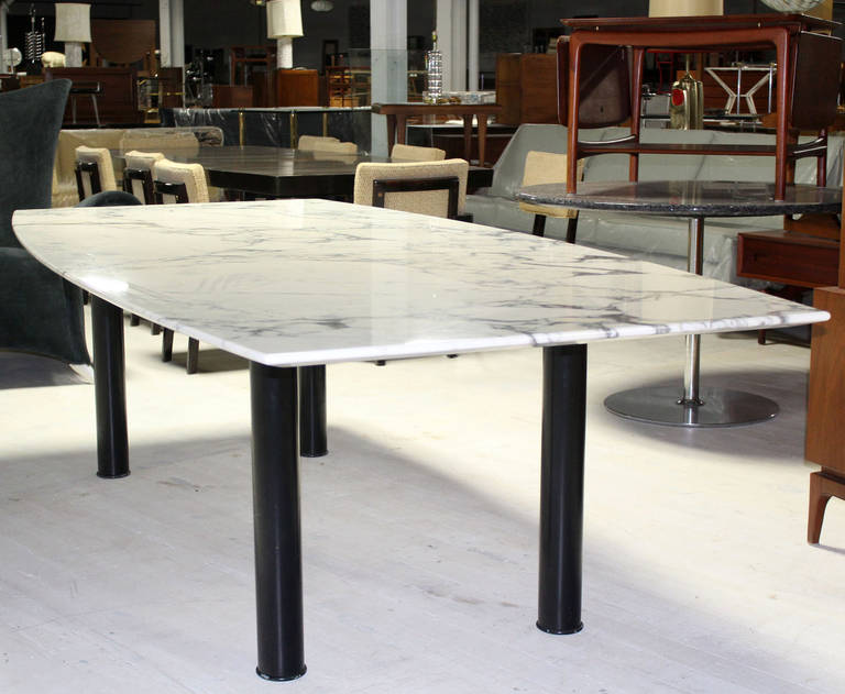 boat shape marble top conference or dining table at 1stdibs