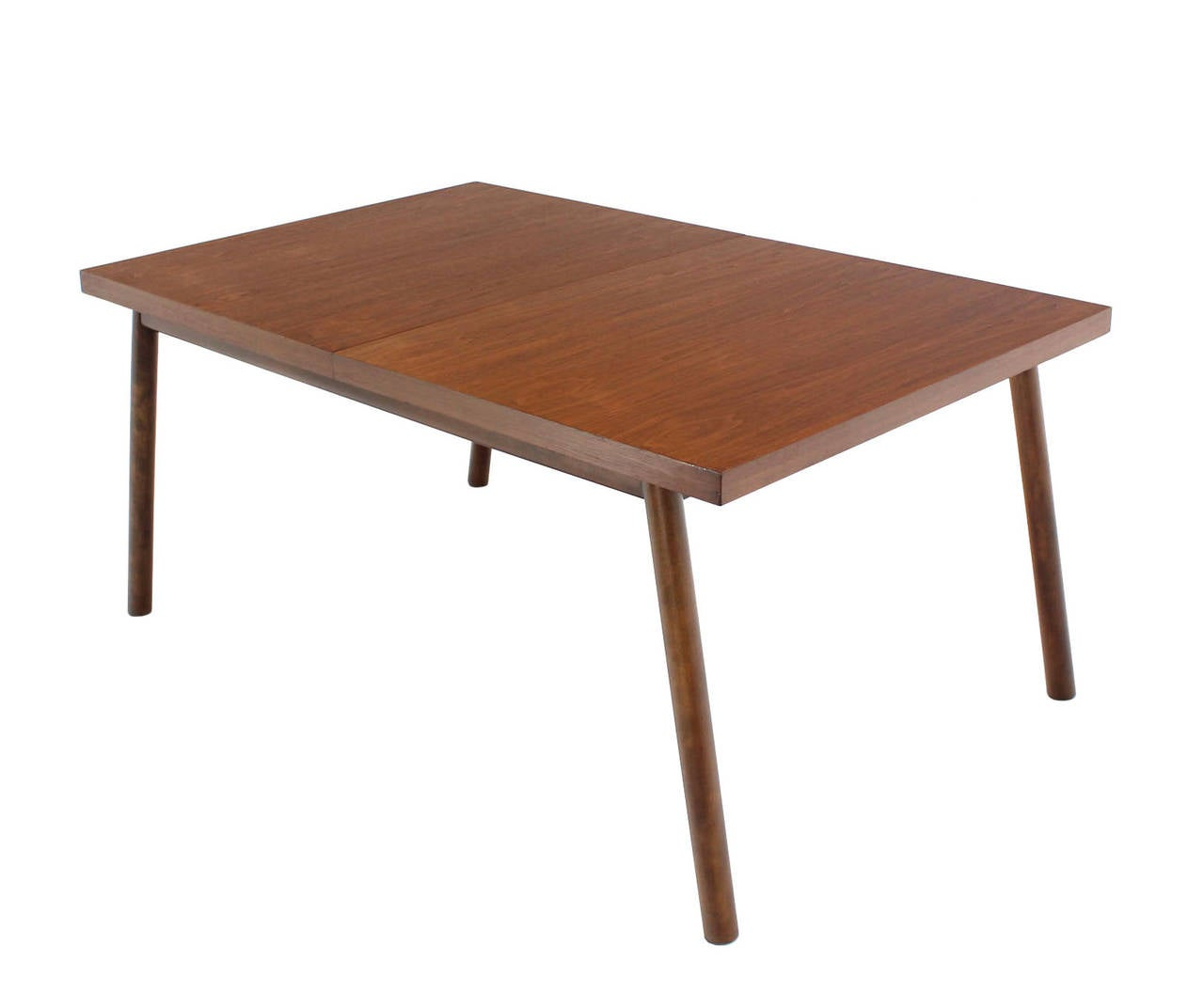 Robsjohn Gibbings Walnut Extention Dining Table With Two