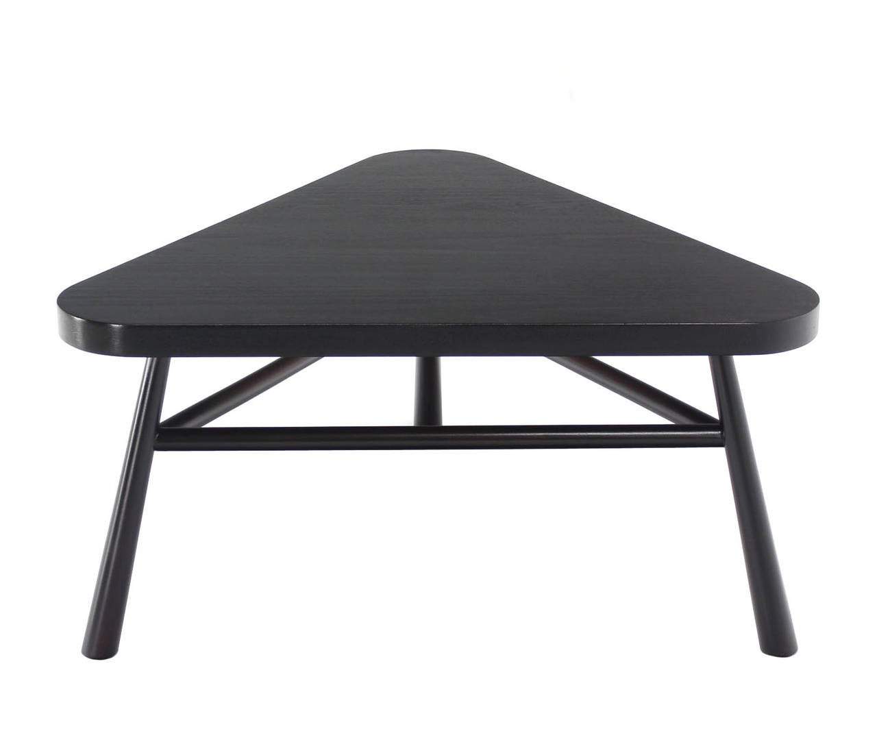 Black Lacquer Gibbings Triangular Coffee Side Occational Table For Sale At 1stdibs