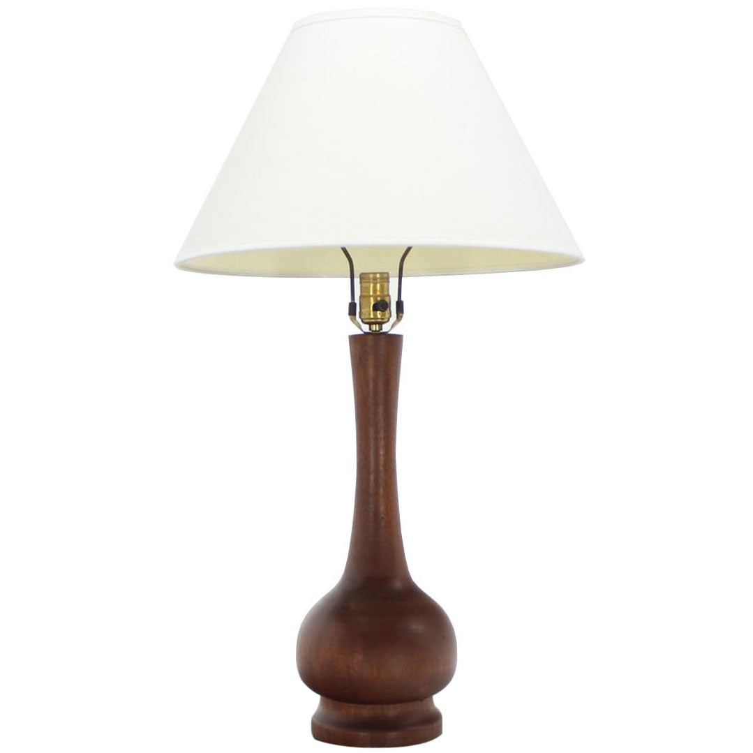 this mid century modern turned walnut table lamp is no longer. Black Bedroom Furniture Sets. Home Design Ideas