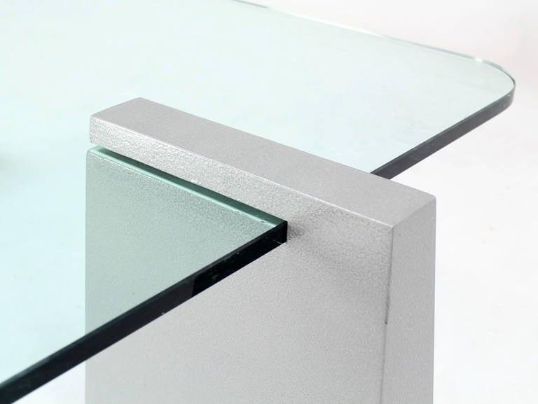 Mid-Century Modern Round Edge Rectangular Geometric Coffee Table 3