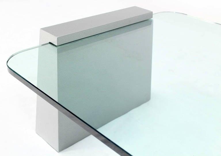 Mid-Century Modern Round Edge Rectangular Geometric Coffee Table 5