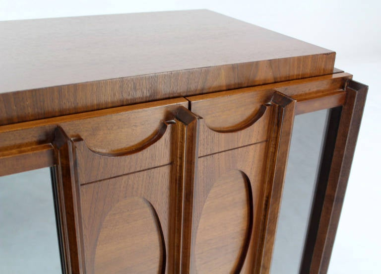 American Mid-Century Modern Oiled Walnut Night Stand or End Table For Sale