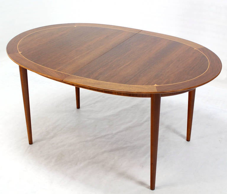 this mid century swedish modern oval dining table by edmond spence is