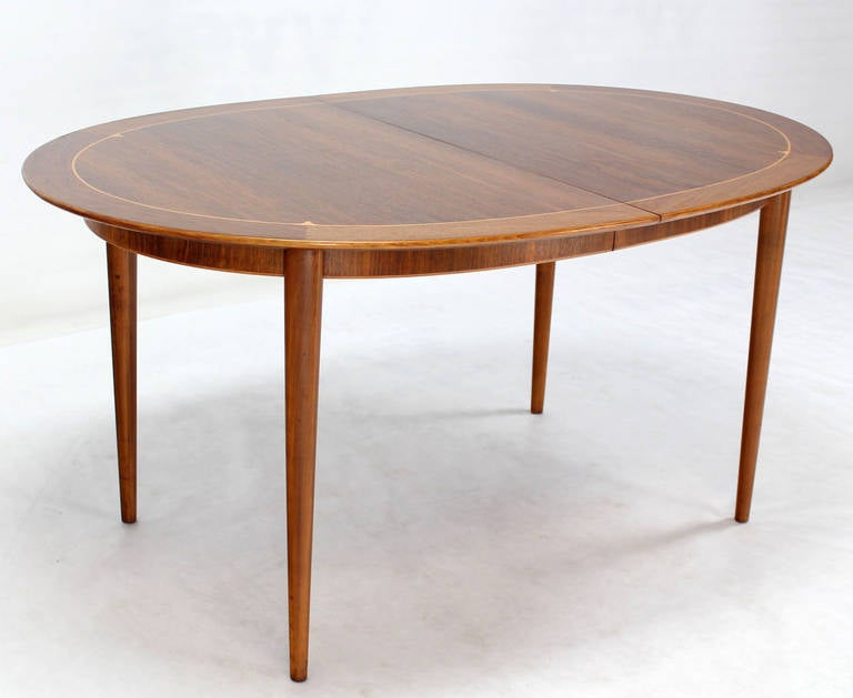 mid century swedish modern oval dining table by edmond spence image 6