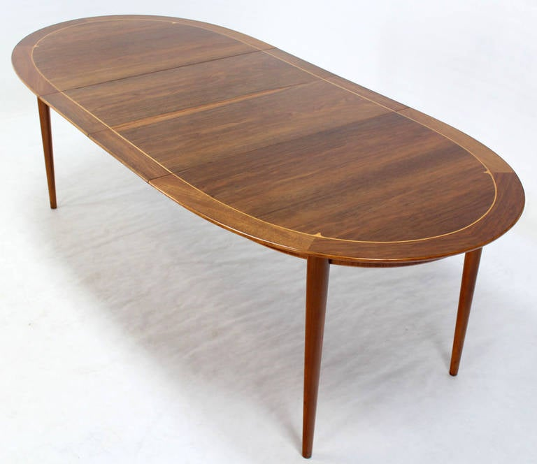 Mid Century Swedish Modern Oval Dining Table By Edmond Spence Image 8