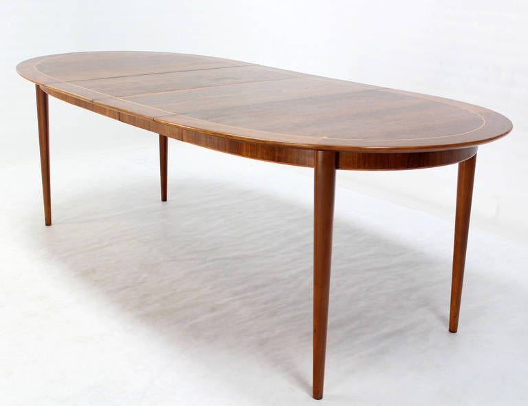 mid century swedish modern oval dining table by edmond spence image 10