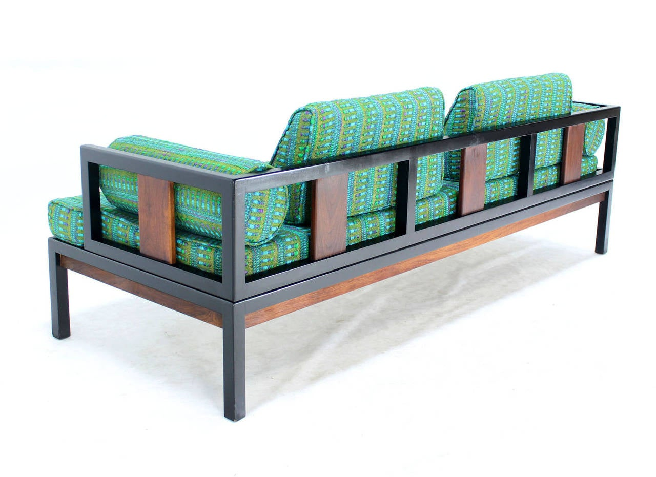 Ebonized Walnut Frame Mid-Century Modern Daybed At 1stdibs