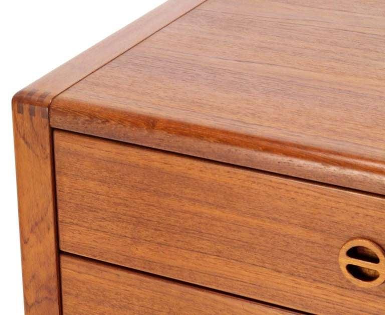 Mid-Century Modern Danish Mid Century Modern Teak Eight Drawer Dresser Credenza Cabinet For Sale