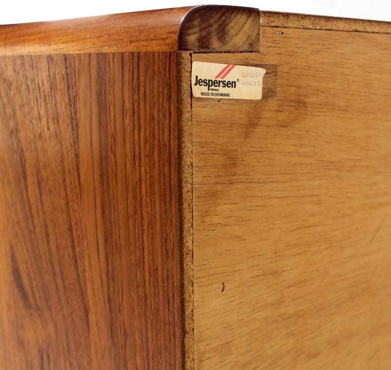 Danish Mid Century Modern Teak Eight Drawer Dresser Credenza Cabinet For Sale 1