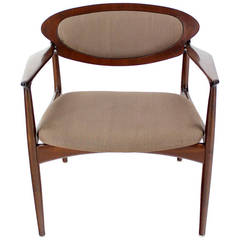 Extra-Wide Midcentury Danish Modern Lounge Chair by Selig