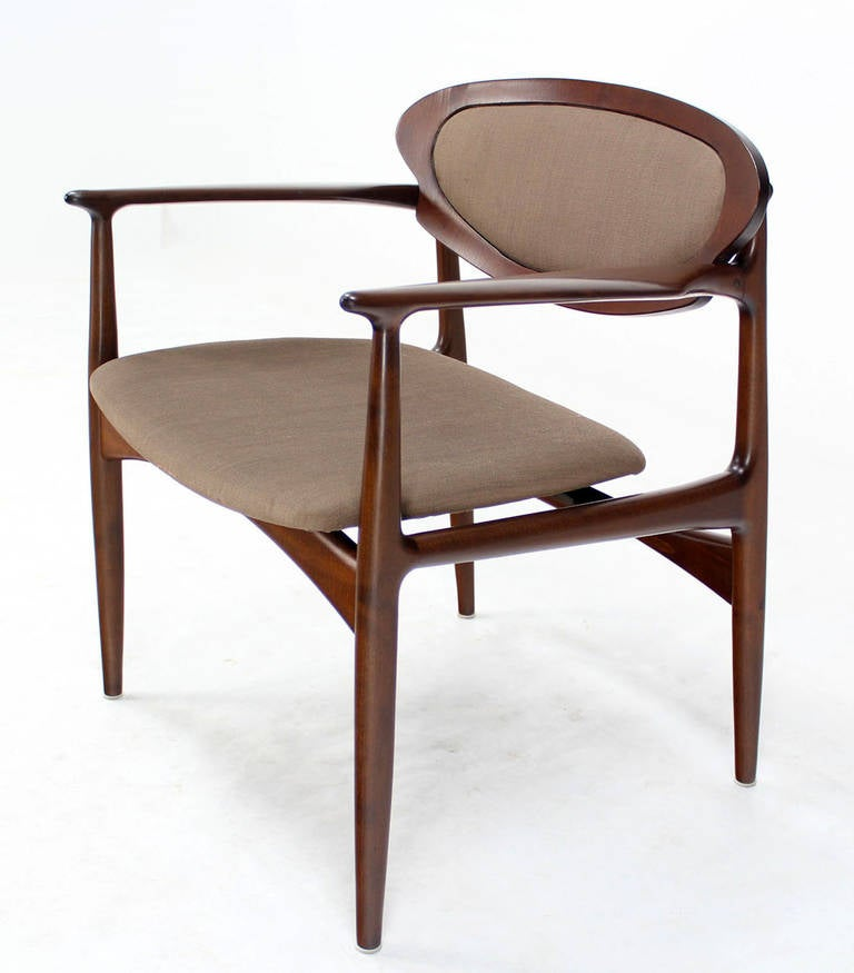 Extra Wide Mid Century Danish Modern Lounge Chair by Selig For Sale at 1stdibs
