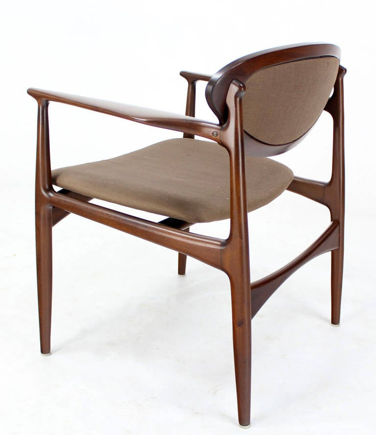 Extra Wide Mid Century Danish Modern Lounge Chair by Selig at 1stdibs