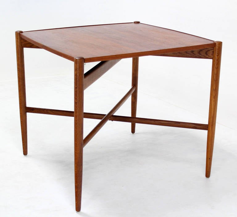danish mid century modern folding reversible sides game table at 1stdibs. Black Bedroom Furniture Sets. Home Design Ideas