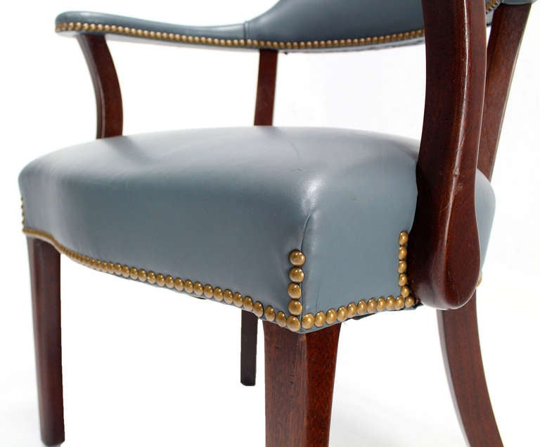 pair of high quality leather upholstery chairs 3