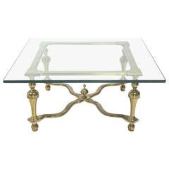 Hollywood Regency Mid-Century Modern Jansen Style Square Coffee Table