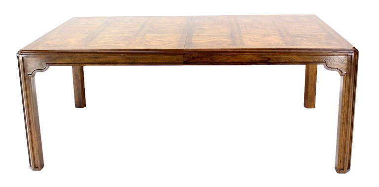 Long Drexel Modern Burl Wood Dining Banquet Table with  : IMG3997l from www.1stdibs.com size 768 x 380 jpeg 20kB