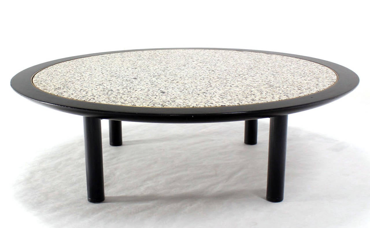 Round Mid Century Modern Coffee Table By Baker For Sale At 1stdibs