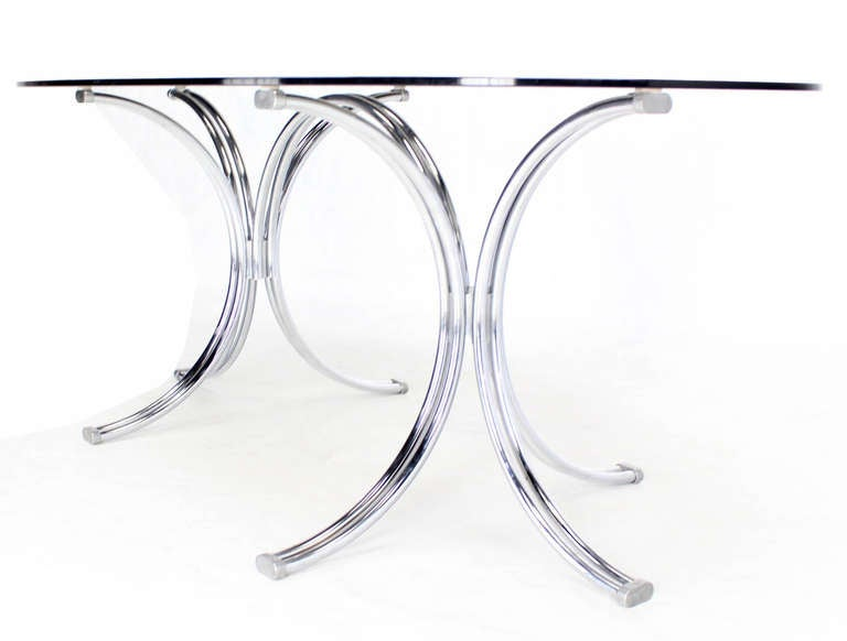Roche Bobois Mid Century Modern Oval Glass Dining Table  : IMG6113l from www.1stdibs.com size 768 x 582 jpeg 25kB