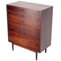 Mid-Century Danish Modern Walnut High Chest or Dresser