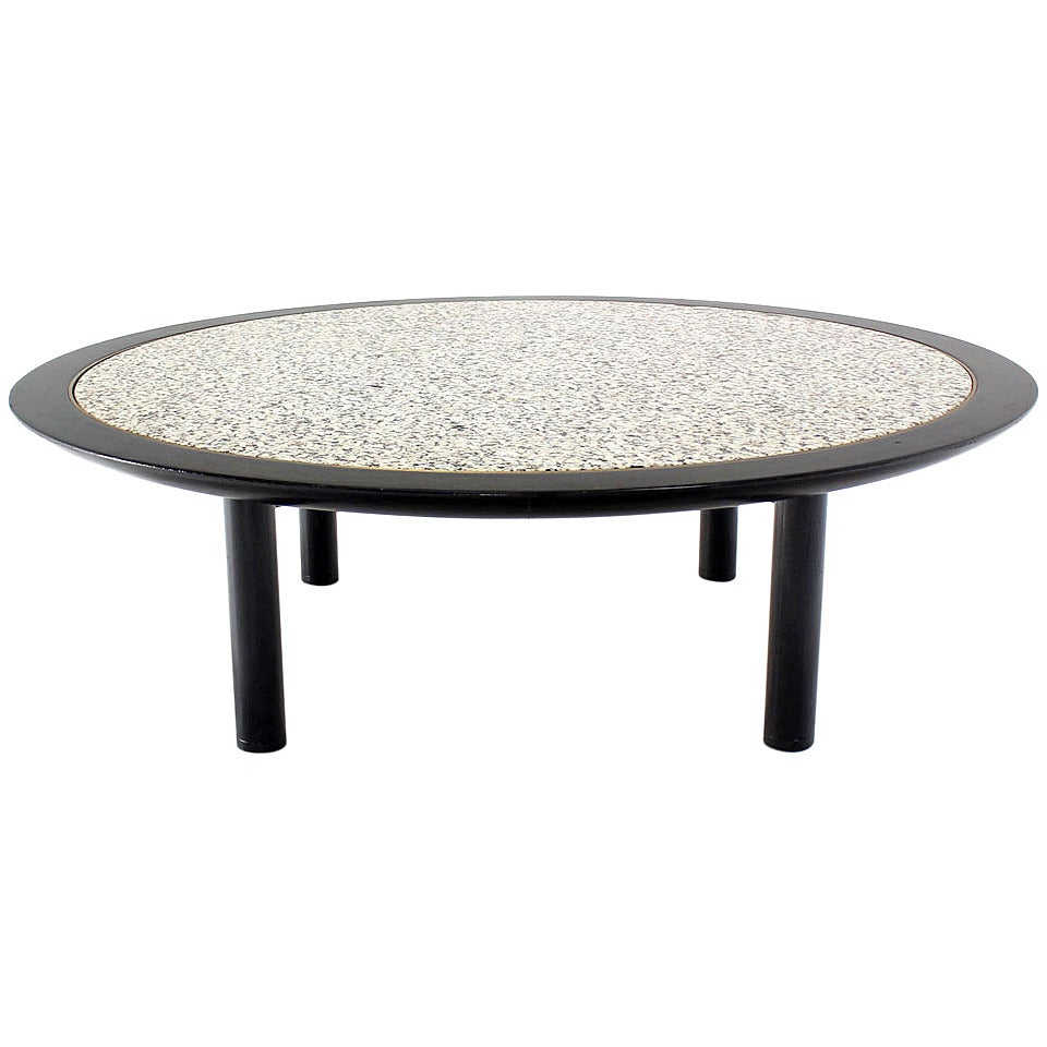 48 inches round mid century modern coffee table by baker for sale at 1stdibs. Black Bedroom Furniture Sets. Home Design Ideas