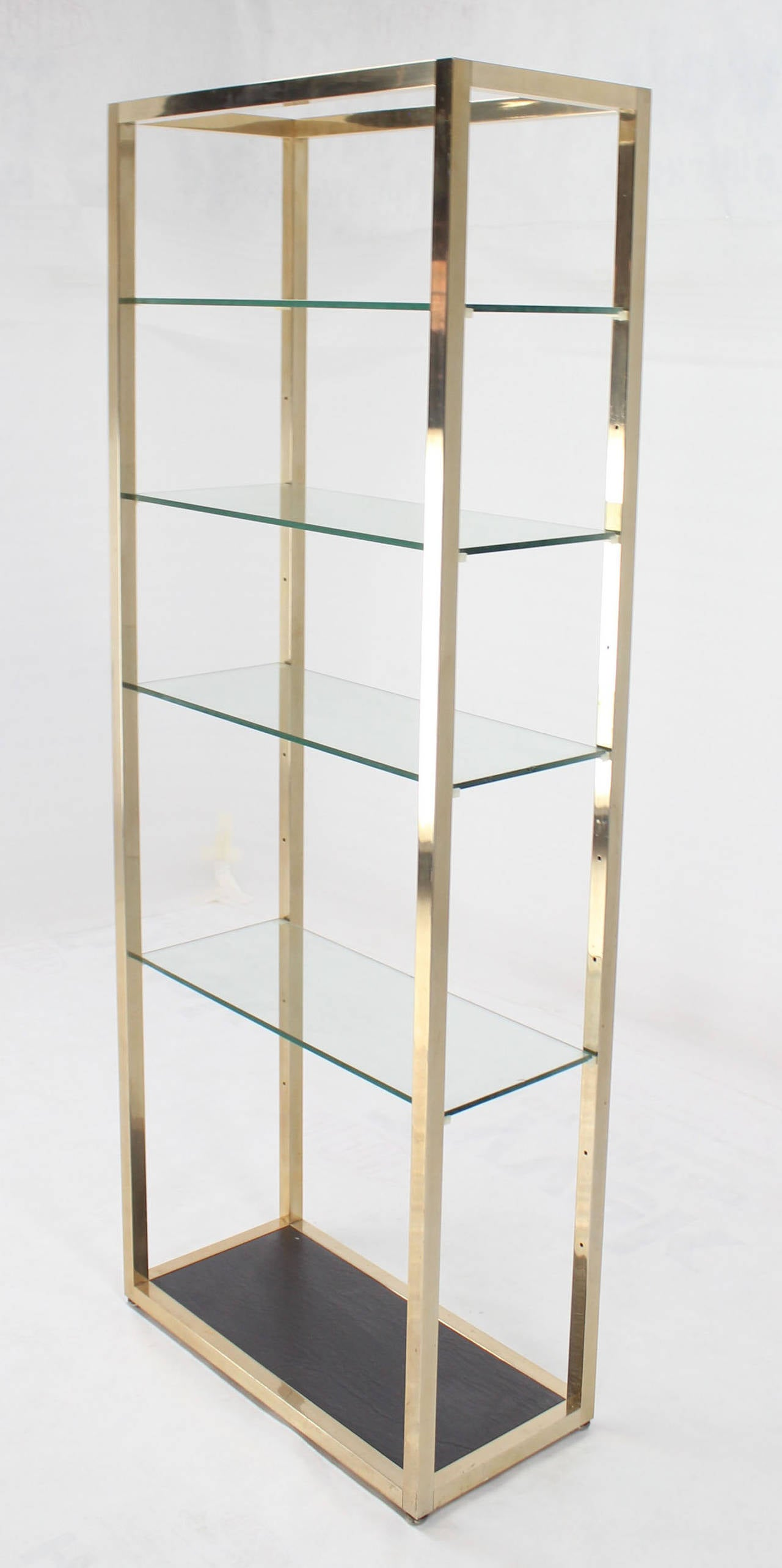 midcentury modern glass and metal etagere for sale at stdibs - midcentury modern glass and metal etagere