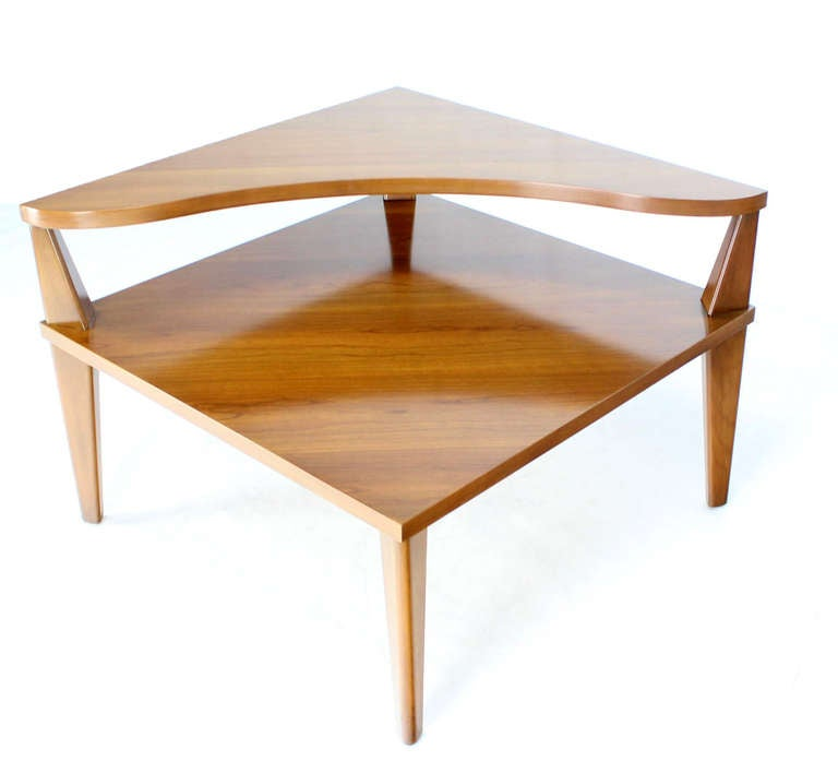 Good Pair Of Mid Century Modern Step End Corner Tables By John Stuart 3