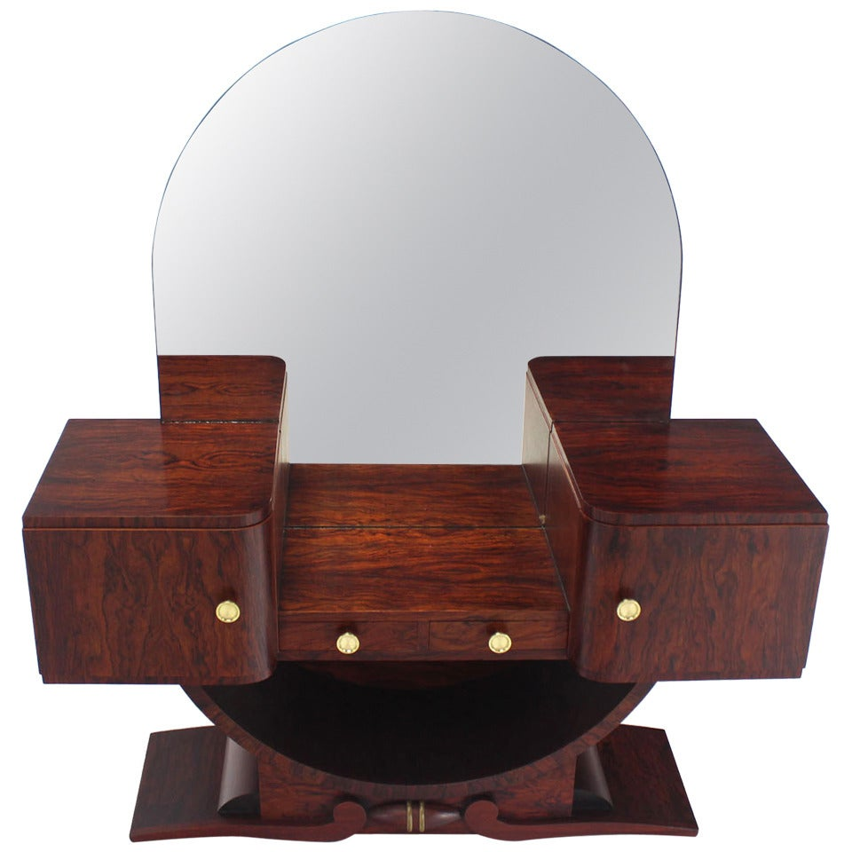 rosewood mid century modern art deco vanity at 1stdibs. Black Bedroom Furniture Sets. Home Design Ideas