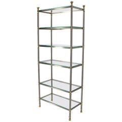 Mid-Century Modern Mixed Metals Etagere
