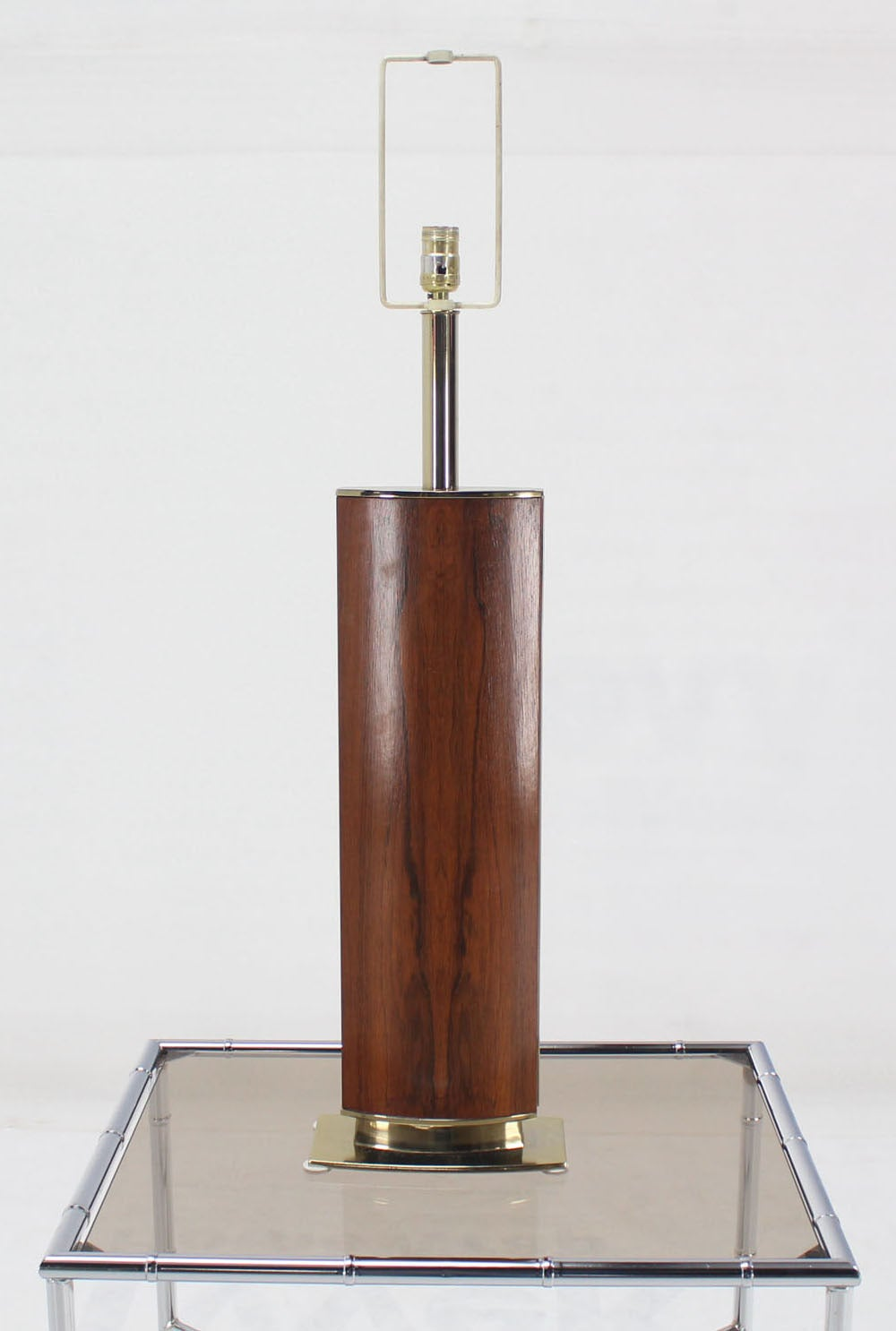mid century modern rosewood table lamp on metal base at 1stdibs. Black Bedroom Furniture Sets. Home Design Ideas