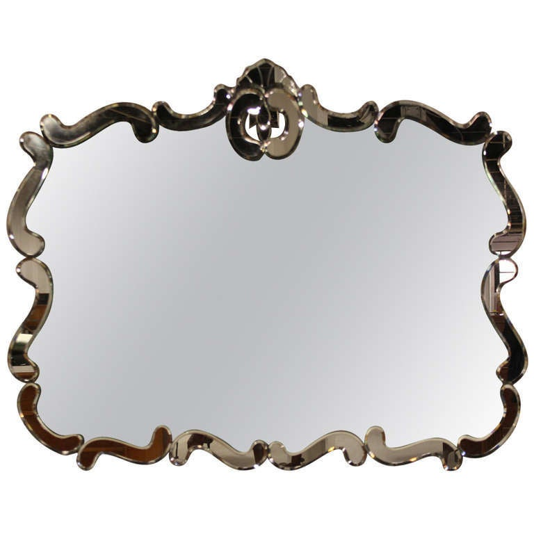 Vintage 20th century venetian style wall mirror at 1stdibs for Antique looking wall mirrors