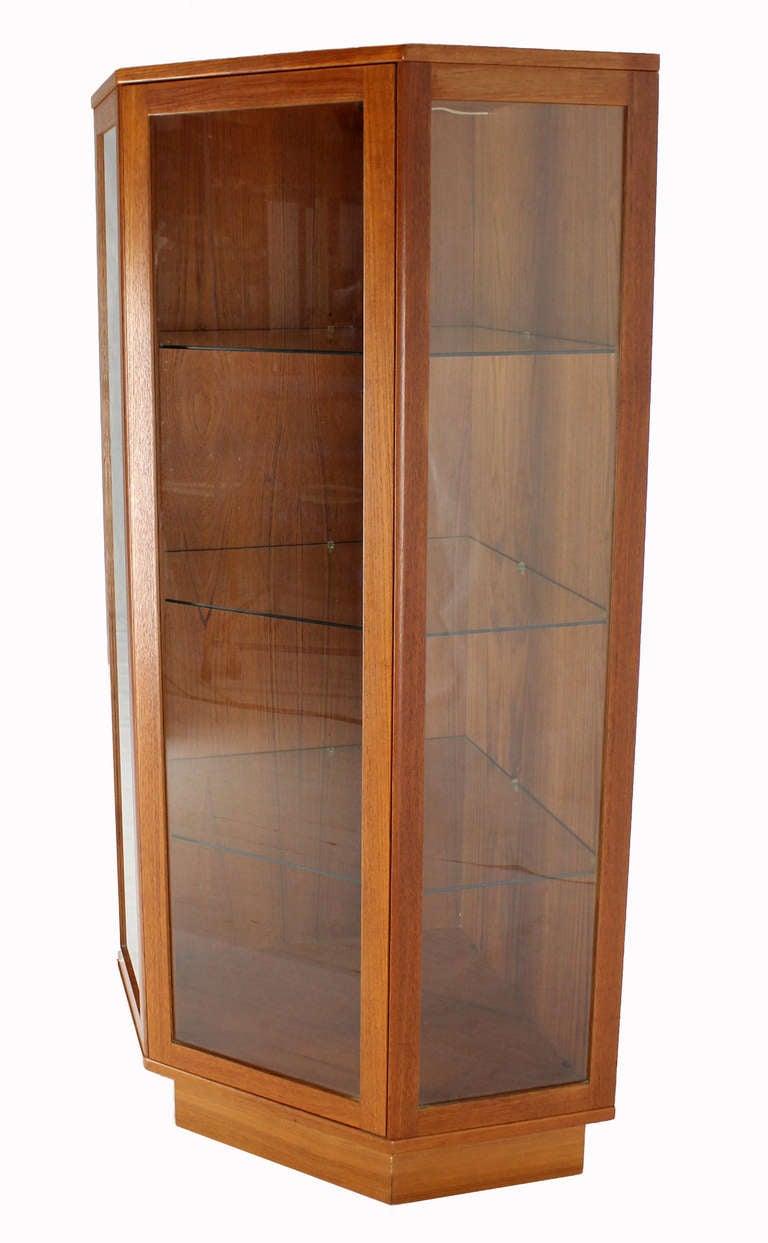 Danish Mid Century Modern Teak Corner Cabinet Cupboard 3