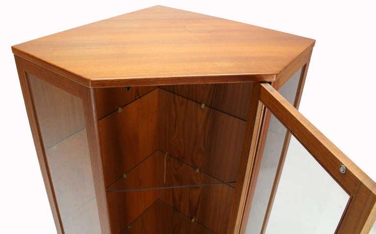 Mid Century Corner Cabinet: Danish Mid Century Modern Teak Corner Cabinet Cupboard At