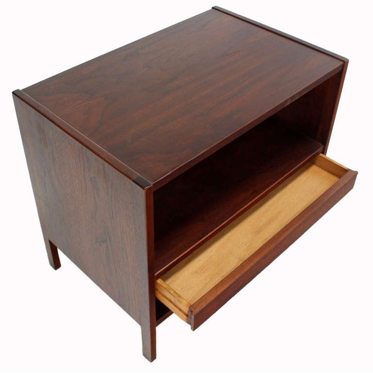 Danish Mid-Century Modern Walnut End Table