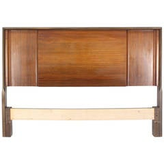 Mid-Century Modern Walnut Full-Size Headboard by Edmond Spence