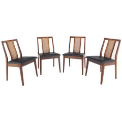 Set of Four Danish Mid-Century Modern Oiled Walnut Side Dining Chairs