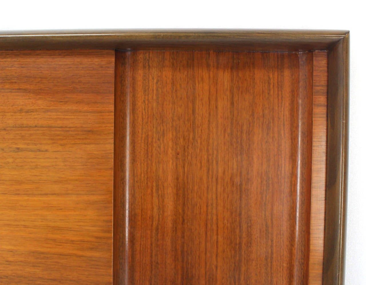 Lacquered Mid-Century Modern Walnut Full-Size Headboard by Edmond Spence For Sale