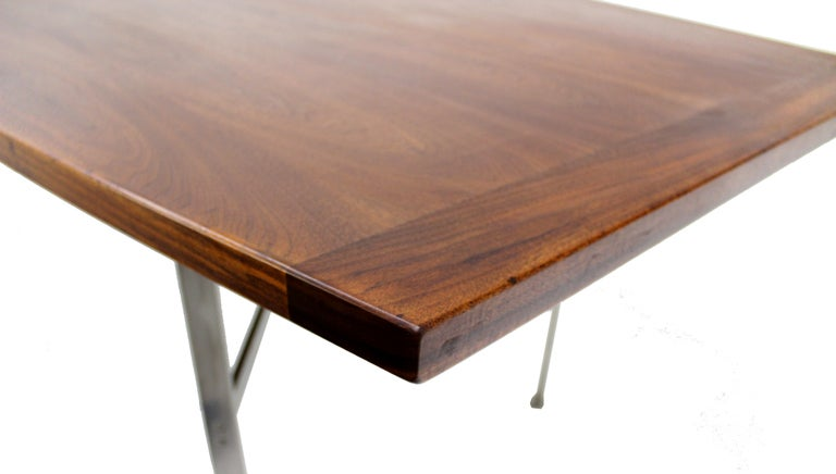 Mid Century Danish Modern Walnut Conference Dining Table