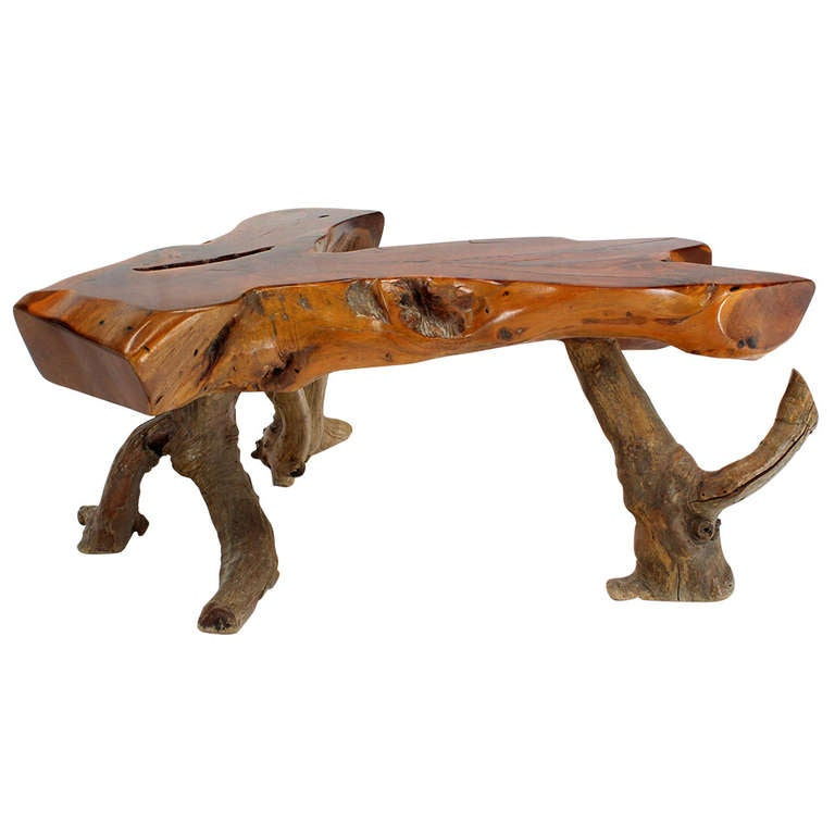 Charmant Driftwood Coffee Table For Sale