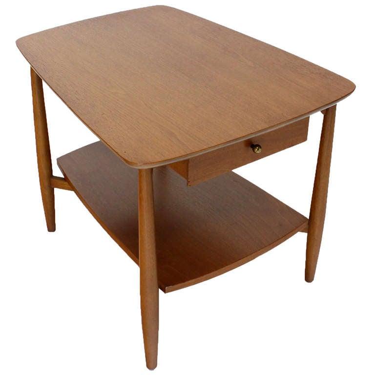 Mid-Century Modern Walnut End Table by John Stuart