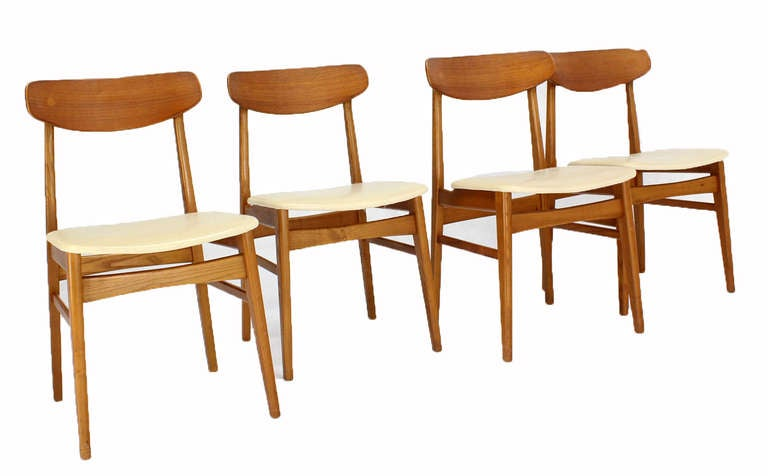 set of 4 danish mid century modern dining chairs at 1stdibs