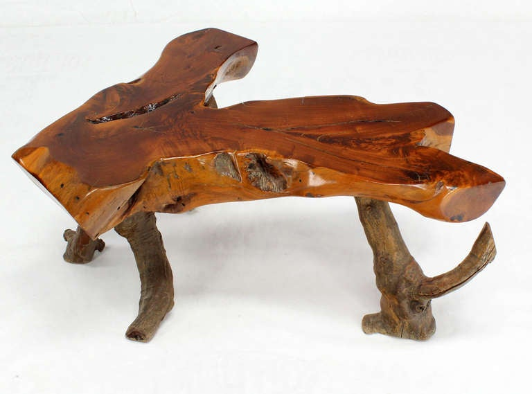 Very Nice Form Driftwood Coffee Table At 1stdibs