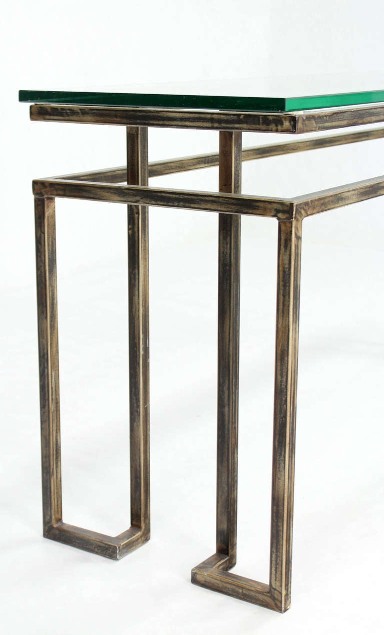 long mid century modern console table image 9