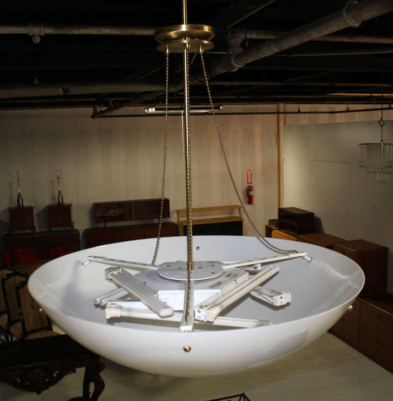 Large Modern Pendant Style Light Fixture at 1stdibs