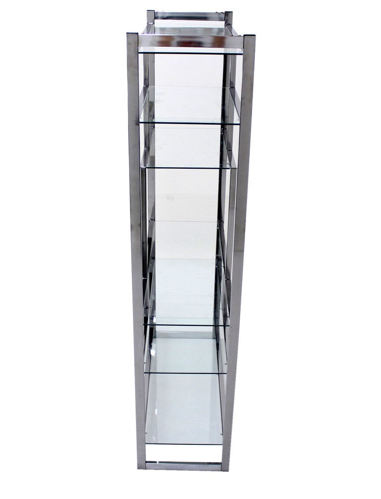 milo baughman mid century modern chrome etagere at 1stdibs. Black Bedroom Furniture Sets. Home Design Ideas