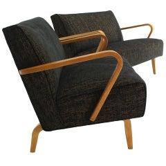 Pair of Mid Century Modern Loveseats New Upholstery