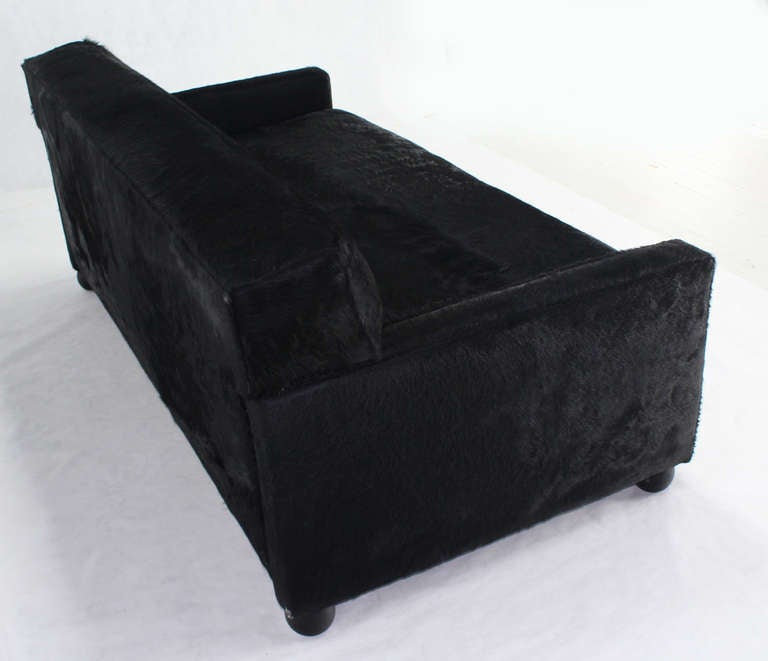 cowhide upholstery mid century modern custom sofa bed convertible at