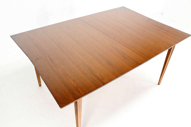 Danish Mid Century Modern Walnut Dining Room Table With Rosewood