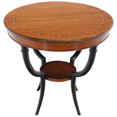 Baker Two-Tone Round Gueridon or Center Drum Table