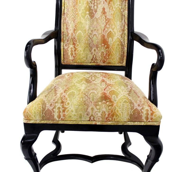Set of 8 French Regency Style Ebonised Dining Chairs at  : IMG5517l from www.1stdibs.com size 768 x 724 jpeg 107kB